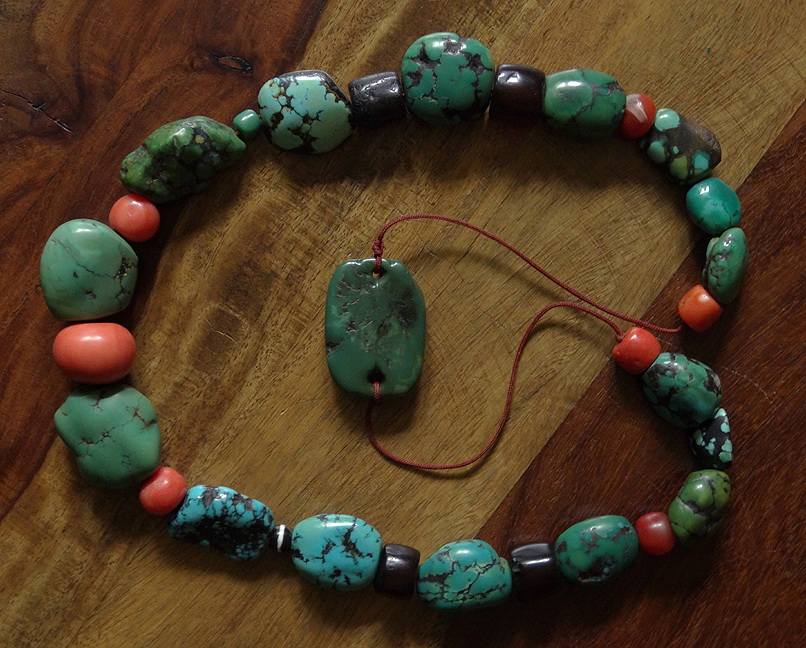 Antique Turquoise with Antqiue Coral